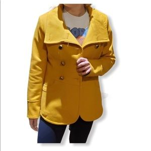Kenneth Cole yellow mustard jacket size 2